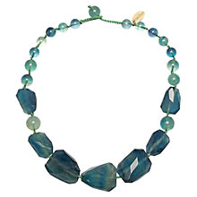 Buy Lola Rose Baltazar Emerald Flourite Necklace, Green Online at johnlewis.com