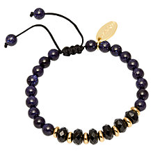Buy Lola Rose Trisha Black Agate Blue Sandstone Bracelet, Black Online at johnlewis.com