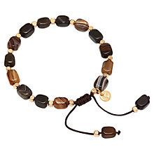 Buy Lola Rose Starla Adjustable Agate Bracelet, Chocolate Online at johnlewis.com