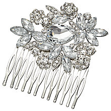 Buy John Lewis Large Stone and Cubic Zirconia Hair Slide, Silver Online at johnlewis.com