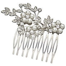 Buy John Lewis Faux Pearl Branch Hair Slide, Silver Online at johnlewis.com
