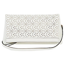 Buy Oasis Cut-Out Detail Clutch Bag, White Online at johnlewis.com