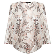 Buy Oasis Butterfly Sequin Kimono Cape, Mid Neutral Online at johnlewis.com