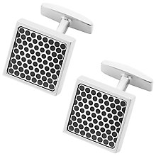 Buy BOSS Ned Square Dot Cufflinks, Black Online at johnlewis.com
