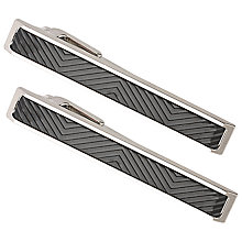 Buy BOSS Tell Tie Clip, Black Online at johnlewis.com