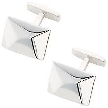 Buy BOSS Kent Geo Cufflinks, Silver Online at johnlewis.com