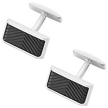 Buy BOSS Mell Herring Cufflinks, Black Online at johnlewis.com