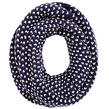Buy John Lewis Birdseye Pattern Snood, Navy Online at johnlewis.com