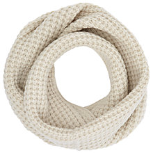 Buy John Lewis Purl Stitch Snood, Cream Online at johnlewis.com