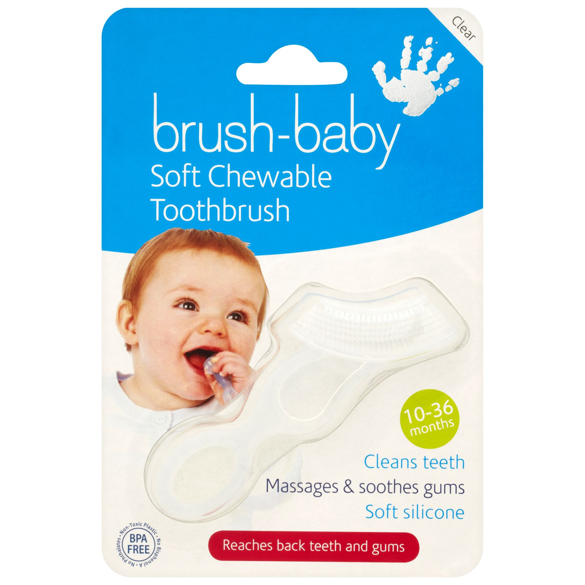 Brush Baby Brush Baby Toothbrush, Clear