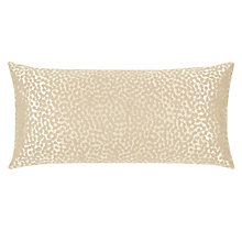 Buy John Lewis Fascino Cushion, Gold Online at johnlewis.com