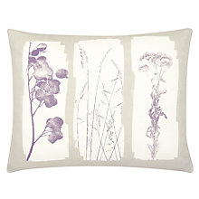 Buy John Lewis Croft Collection Botanical Cushion, Clover Online at johnlewis.com