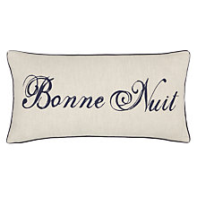 Buy John Lewis Bonne Nuit Cushion, Natural / Navy Online at johnlewis.com