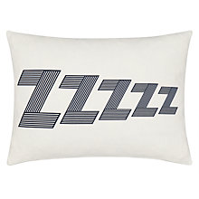 Buy John Lewis Zzzzzz Cushion, L40 x W30cm, Navy Online at johnlewis.com