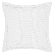 Buy John Lewis Waffle Square Oxford Pillowcase, White Online at johnlewis.com