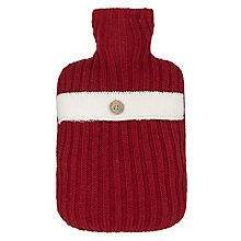 Buy John Lewis Hottie Chunky Knit Hot Water Bottle, Red Online at johnlewis.com