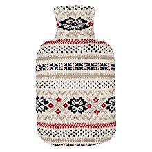 Buy John Lewis Celebration Pattern Hot Water Bottle Online at johnlewis.com