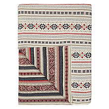 Buy John Lewis Celebration Pattern Throw Blanket, Cream/Red Online at johnlewis.com