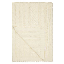 Buy John Lewis Croft Collection Cable Knit Throw Blanket, Cream Online at johnlewis.com