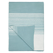 Buy John Lewis Fair Isle Knit Pattern Throw Blanket, Ice Blue Online at johnlewis.com