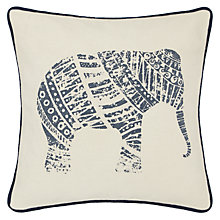 Buy John Lewis Elephant Cushion, Indigo Online at johnlewis.com