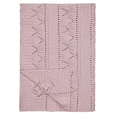 John Lewis Lace Knit Throw