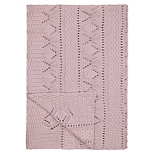 Buy John Lewis Lace Knit Throw Online at johnlewis.com