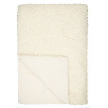 Buy John Lewis Faux Shearling Throw, Cream Online at johnlewis.com