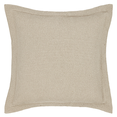 John Lewis Waffle Square Oxford Pillowcase, Mocha