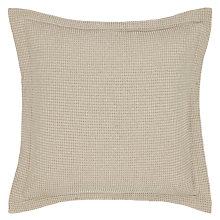 Buy John Lewis Waffle Square Oxford Pillowcase, Mocha Online at johnlewis.com