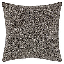 Buy John Lewis Beaded Cushion, Steel Online at johnlewis.com
