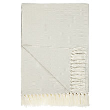 Buy John Lewis Croft Collection Diamond Knit Throw, Grey Online at johnlewis.com