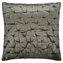 Buy John Lewis Velvet Stitch Cushion Cover, Steel Online at johnlewis.com