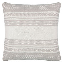 Buy John Lewis Croft Fair Isle Knit Pattern Cushion, French Grey Online at johnlewis.com