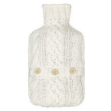Buy John Lewis Croft Collection Cable Knit Hot Water Bottle, Cream Online at johnlewis.com
