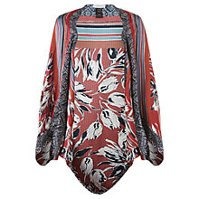 Buy Jigsaw Sunset Floral Cocoon Cape, Copper Online at johnlewis.com
