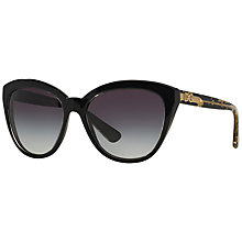 Buy Dolce & Gabbana DG4250 Cat's Eye Polarised Sunglasses Online at johnlewis.com
