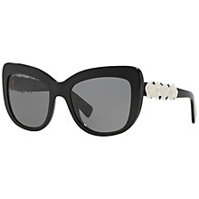 Buy Dolce & Gabbana DG4252 Cat's Eye Polarised Sunglasses, Black Online at johnlewis.com