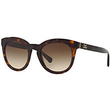 Buy Dolce & Gabbana DG4249 Oval Framed Polarised Sunglasses Online at johnlewis.com