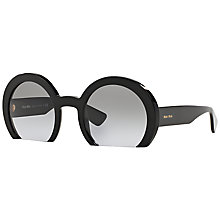 Buy Miu Miu MU07QS Round Framed Sunglasses Online at johnlewis.com