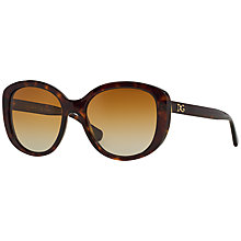 Buy Dolce & Gabbana DG4248 Square Framed Polarised Sunglasses, Tortoise Online at johnlewis.com