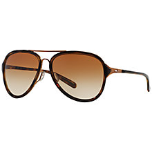 Buy Oakley OO4102 Kickback Aviator Sunglasses, Brown Online at johnlewis.com