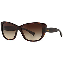 Buy Ralph RA5190 Cat's Eye Sunglasses, Tortoise Online at johnlewis.com