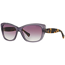 Buy Ralph RA5190 Cat's Eye Sunglasses, Purple/Tortoise Online at johnlewis.com