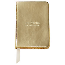 Buy kate spade new york 'Written In The Stars' Mini Notebook, Gold Online at johnlewis.com