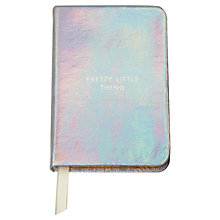Buy kate spade new york 'Pretty Little Things' Mini Notebook, Silver Online at johnlewis.com