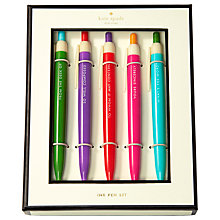 Buy kate spade new york 'Well Composed' 5 Pen Set Online at johnlewis.com