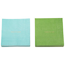 Buy kate spade new york Cocktail Paper Napkins, Pack of 40 Online at johnlewis.com