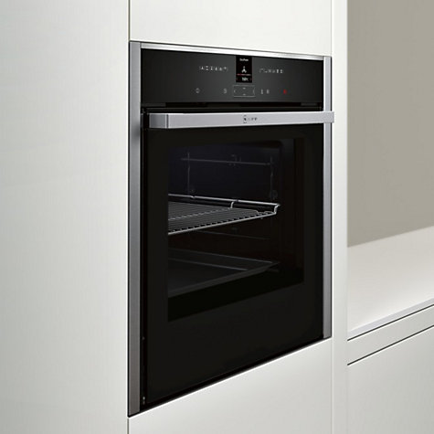 buy neff b57cr22n0b pyrolytic slide and hide single electric oven stainless steel john lewis. Black Bedroom Furniture Sets. Home Design Ideas