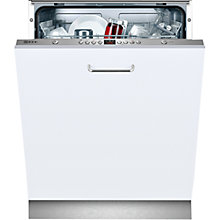 Buy Neff S51L43X0GB Fully Integrated Dishwasher, White Online at johnlewis.com